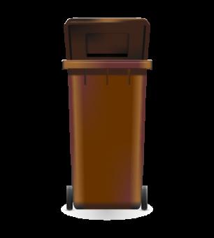 Mülltonne Biomüll Aufkleber