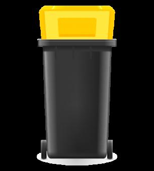 Gelbe Tonne Müll Aufkleber